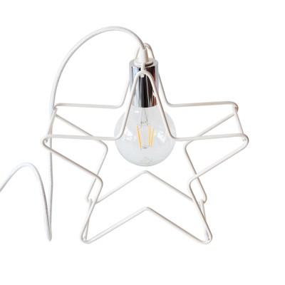 Χριστουγεννιάτικο Αστέρι Λευκό Φωτιστικό Διακοσμησης