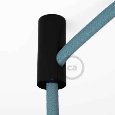 Στήριγμα Καλωδίου Μαύρο με γάντζο και στοπ για υφασμάτινο καλώδιο