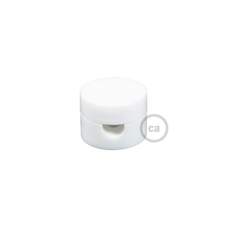 Universal Στήριγμα Τοίχου για Υφασμάτινο καλώδιο, Λευκό