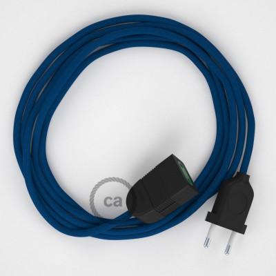 Προέκταση Διπολική με Μπλε Υφασμάτινο Καλώδιο από Ραιγιόν Μετάξι RM12. Made in Italy