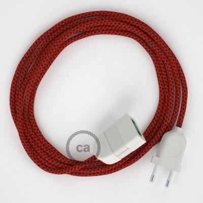 Προέκταση Διπολική με Red Devil Υφασμάτινο Καλώδιο από Ραιγιόν Μετάξι RT94. Made in Italy