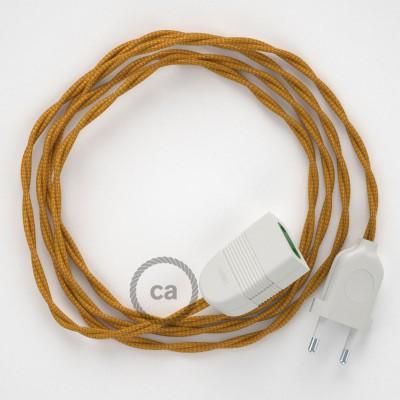 Προέκταση Διπολική με Χρυσό Υφασμάτινο Καλώδιο από Ραιγιόν Μετάξι TM05. Made in Italy
