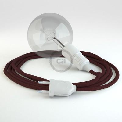 Δημιουργήστε το δικό σας Φωτιστικό Snake με καλώδιο RM19 Μπορντώ Ρεγιόν και κατευθύνετε το φως εκεί που θέλετε.