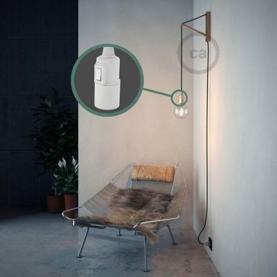 Δημιουργήστε το δικό σας Φωτιστικό Snake με καλώδιο RM21 Πράσινο σκούρο Ρεγιόν και κατευθύνετε το φως εκεί που θέλετε.