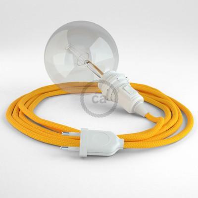 Δημιουργήστε το δικό σας Φωτιστικό Snake για αμπαζούρ με καλώδιο RM10 Κίτρινο Ρεγιόν.