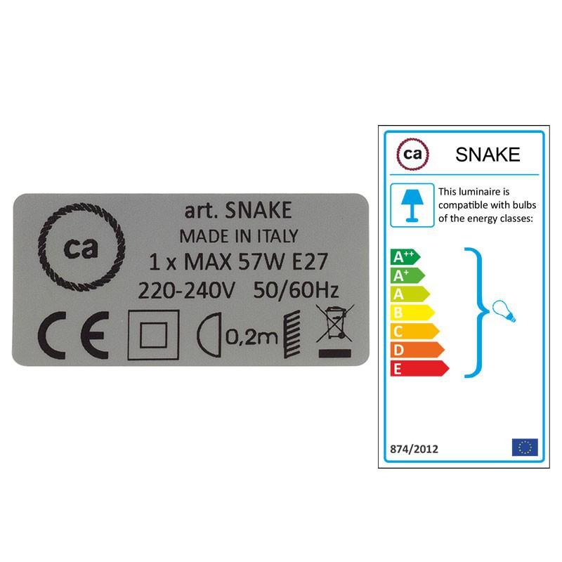 Δημιουργήστε το δικό σας Φωτιστικό Snake για αμπαζούρ με καλώδιο RM12 Μπλε Ρεγιόν.