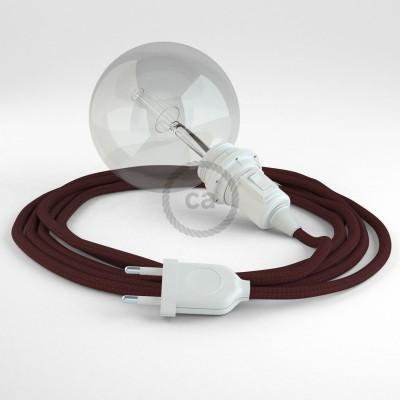 Δημιουργήστε το δικό σας Φωτιστικό Snake για αμπαζούρ με καλώδιο RM19 Μπορντώ Ρεγιόν.