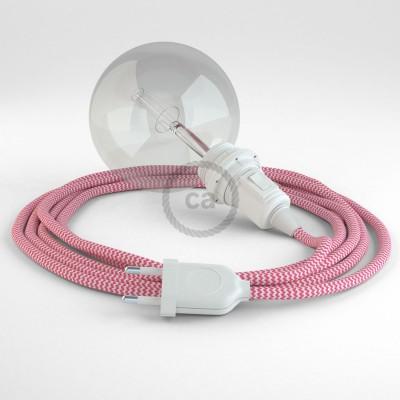 Δημιουργήστε το δικό σας Φωτιστικό Snake για αμπαζούρ με καλώδιο RZ08 Φούξ Ψαροκόκκαλο.