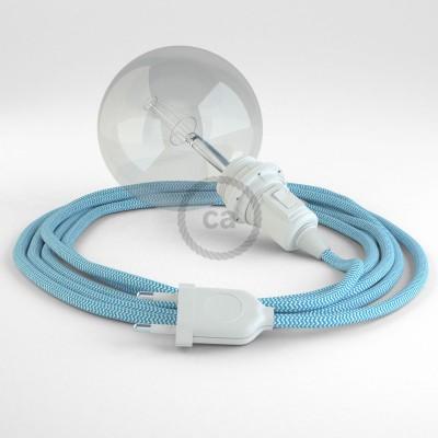 Δημιουργήστε το δικό σας Φωτιστικό Snake για αμπαζούρ με καλώδιο RZ11 Τυρκουάζ Ψαροκόκκαλο.