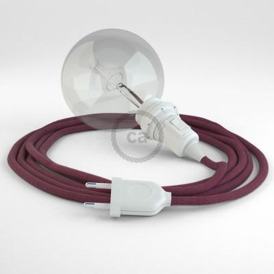 Δημιουργήστε το δικό σας Φωτιστικό Snake για αμπαζούρ με καλώδιο RC32 Δαμασκινί Βαμβάκι.