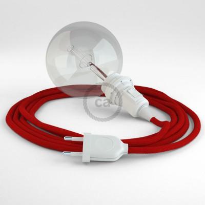 Δημιουργήστε το δικό σας Φωτιστικό Snake για αμπαζούρ με καλώδιο RC35 Κόκκινο Βαμβάκι.