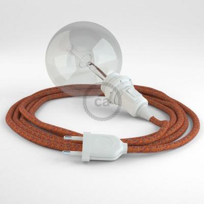 Δημιουργήστε το δικό σας Φωτιστικό Snake για αμπαζούρ με καλώδιο RX07 Indian Summer Βαμβάκι.