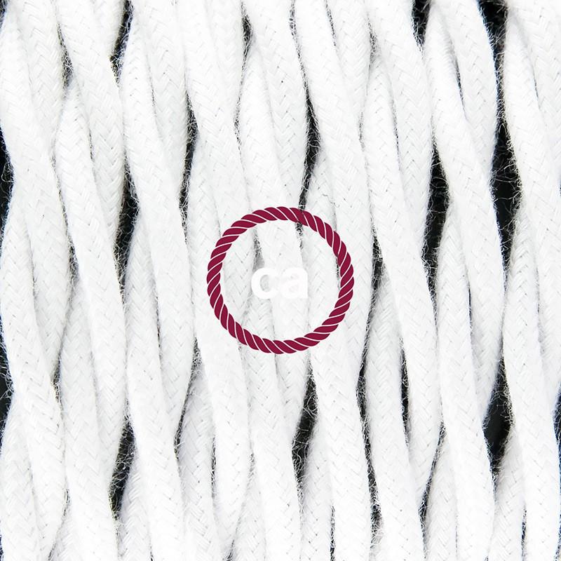 Κρεμαστό φωτιστικό με πλαίσιο Drop - Λευκό με TC01 Λευκό Υφασμάτινο Καλώδιο από βαμβάκι