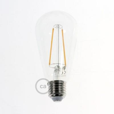 LED Διαφανής λαμπτήρας - Διακοσμητικό Αχλάδι Edison ST64 4W 2200K