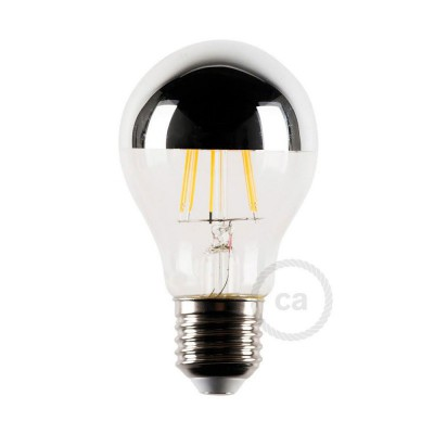 Λαμπτήρας LED με ανακλαστήρα χρωμίου 4W E27 2700K