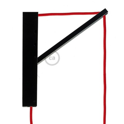 Pinocchio Μαύρη Ξύλινη Βάση για τοίχο ιδανική για κρεμαστά φωτιστικά.