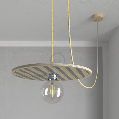 """Κρεμαστό φωτιστικό """"Le Palle Volanti"""" σχέδιο Stripes + Dots και καλώδιο τριχιά RN06"""