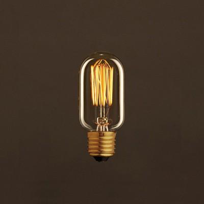 Διακοσμητικός Λαμπτήρας Edison, Σωληνωτή T45 30W E27 Ίσιο νήμα Dimmable 2000K