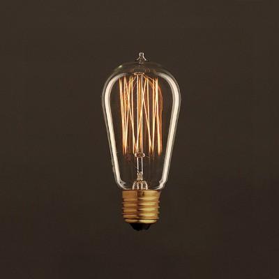 Διακοσμητικός Λαμπτήρας Edison, Αχλάδι ST58 30W E27 Ίσιο νήμα Dimmable 2000K