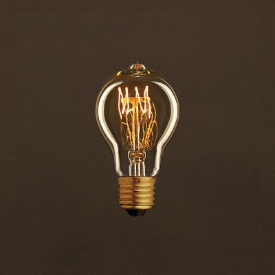 Διακοσμητικός Λαμπτήρας Edison, Drop A60 25W E27 Σπιράλ νήμα Dimmable 2000K