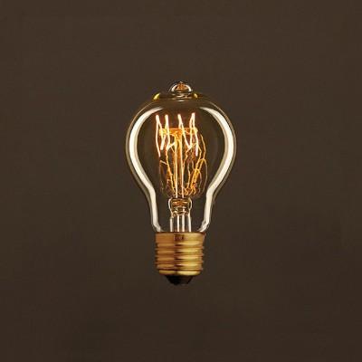 Διακοσμητικός Λαμπτήρας Edison, Drop A60 30W E27 Σπιράλ νήμα Dimmable 2000K