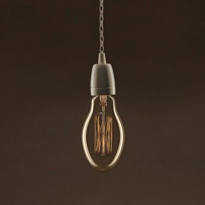 Διακοσμητικός Λαμπτήρας Edison, Candle E75 30W E27 Ίσιο νήμα Dimmable 2000K