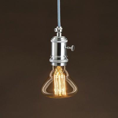 Διακοσμητικός Λαμπτήρας Edison, Διαμάντι BR95 30W E27 Ίσιο νήμα Dimmable 2000K
