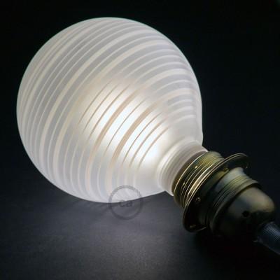 Αποσπώμενος Διακοσμητικός Λαμπτήρας LED E27 5W με οριζόντιες γραμμές 2700K Dimmable