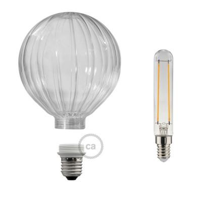 Αποσπώμενος Διακοσμητικός Λαμπτήρας LED E27 5W με Διαφανές γυαλί 2700K Dimmable