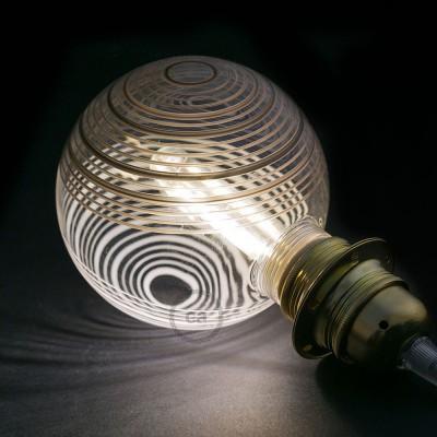 Αποσπώμενος Διακοσμητικός Λαμπτήρας LED E27 5W με μαύρους και λευκούς κύκλους 2700K Dimmable