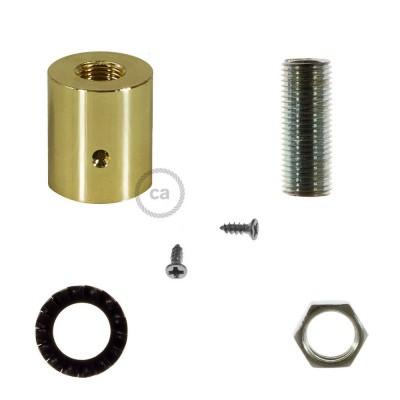 Εξάρτημα μεταλλικό χρυσό για σωλήνα Creative-Tube 16 mm, περιλαμβάνονται εξαρτήματα