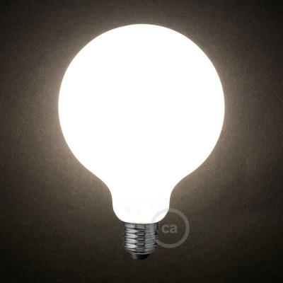LED Λαμπτήρας Οπάλ Λευκό - Γλόμπος G125 - 8W E27 Dimmable 2700K