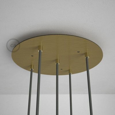 Στρογγυλή Ροζέτα Μπρονζέ XXL 35 cm με 5 τρύπες και εξαρτήματα