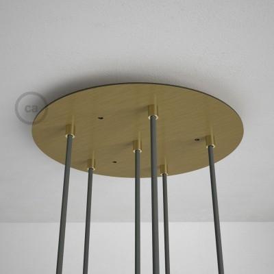 Στρογγυλή Ροζέτα Μπρονζέ XXL 35 cm με 6 τρύπες και εξαρτήματα