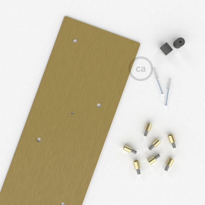 Ορθογώνια Ροζέτα Μπρονζέ XXL 90x20 cm με 7 τρύπες και εξαρτήματα