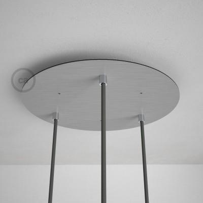 Στρογγυλή Ροζέτα Νίκελ ΜΑΤ XXL 35 cm με 3 τρύπες και εξαρτήματα