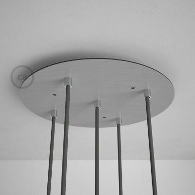 Στρογγυλή Ροζέτα Νίκελ ΜΑΤ XXL 35 cm με 5 τρύπες και εξαρτήματα