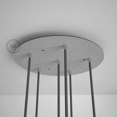 Στρογγυλή Ροζέτα Νίκελ ΜΑΤ XXL 35 cm με 6 τρύπες και εξαρτήματα