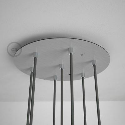 Στρογγυλή Ροζέτα Νίκελ ΜΑΤ XXL 35 cm με 7 τρύπες και εξαρτήματα