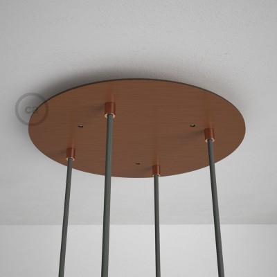 Στρογγυλή Ροζέτα Χάλκινο ΜΑΤ XXL 35 cm με 4 τρύπες και εξαρτήματα
