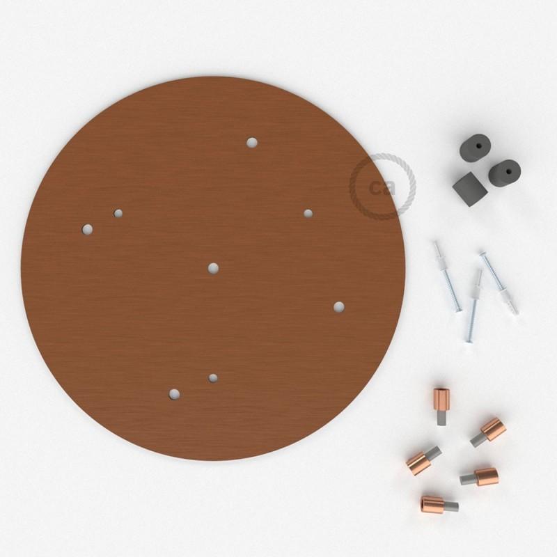 Στρογγυλή Ροζέτα Χάλκινο ΜΑΤ XXL 35 cm με 5 τρύπες και εξαρτήματα