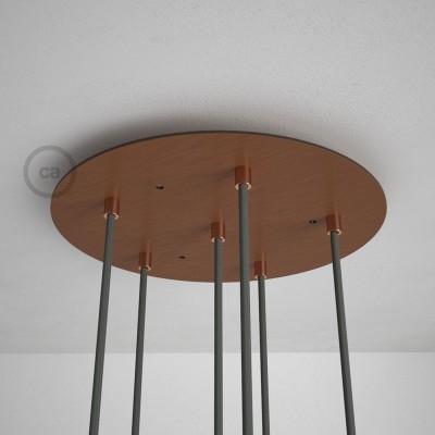 Στρογγυλή Ροζέτα Χάλκινο ΜΑΤ XXL 35 cm με 6 τρύπες και εξαρτήματα