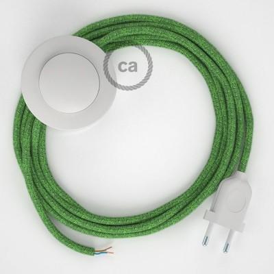 Υφασματινο Καλώδιο για Φωτιστικά Δαπέδου RX08 Grass - 3 m. Με διακόπτη ποδός και φις.
