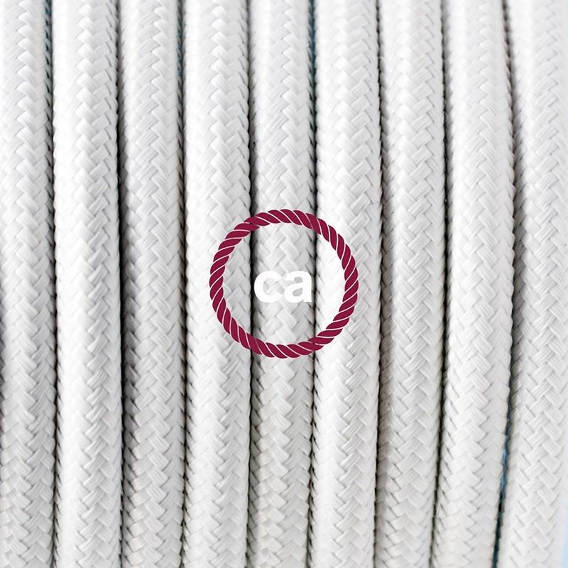Καλωδίωση SnakeBis με ντουί, διακόπτη και υφασμάτινο καλώδιο - Λευκό Ραιγιόν Μετάξι RM01