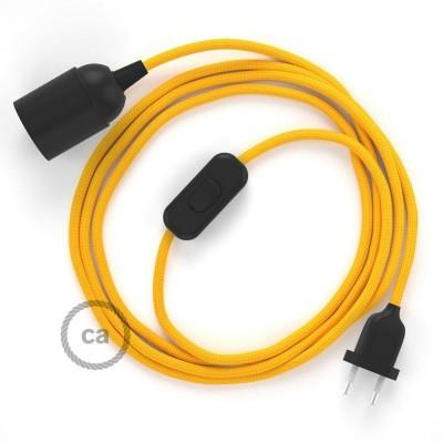 Καλωδίωση SnakeBis με ντουί, διακόπτη και υφασμάτινο καλώδιο - Κίτρινο Ραιγιόν Μετάξι RM10