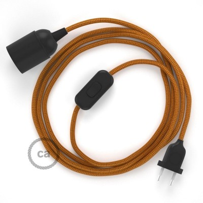Καλωδίωση SnakeBis με ντουί, διακόπτη και υφασμάτινο καλώδιο - Χάλκινο Ραιγιόν Μετάξι RM22