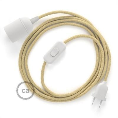 Καλωδίωση SnakeBis με ντουί, διακόπτη και υφασμάτινο καλώδιο - Φυσικό Σχοινί Γιούτα RN06