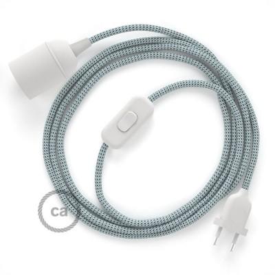 Καλωδίωση SnakeBis με ντουί, διακόπτη και υφασμάτινο καλώδιο - Στρατσιατέλα Ραιγιόν Μετάξι RT14