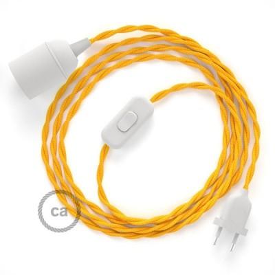 Καλωδίωση SnakeBis με ντουί, διακόπτη και υφασμάτινο καλώδιο - Κίτρινο Ραιγιόν Μετάξι TM10