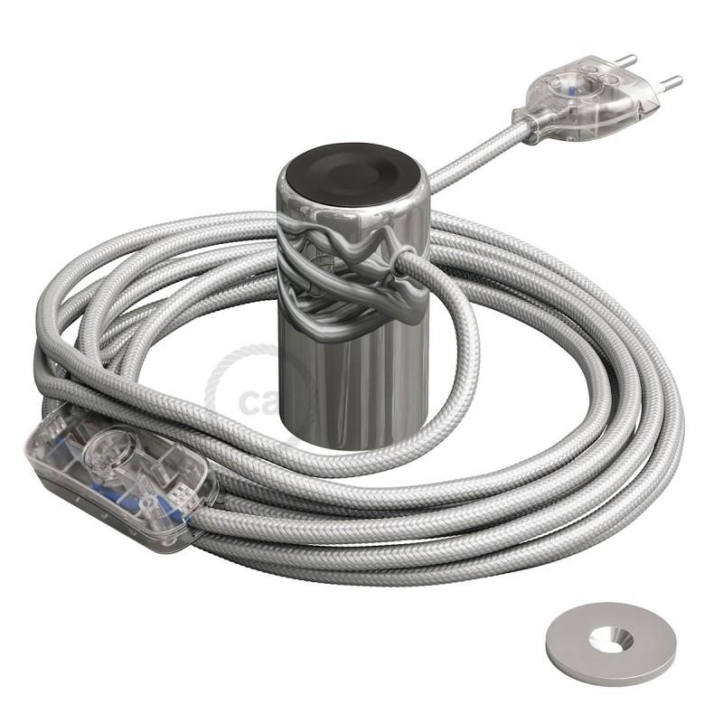 Μαγνητικό Ντουί Magnetico®-Plug Χρωμίου με διακόπτη, φις και καλώδιο, έτοιμο για χρήση